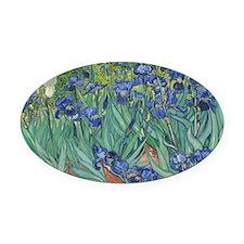 Vincent van Gogh - Irises Oval Car Magnet