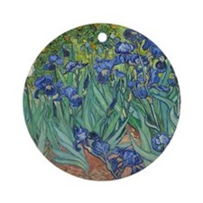 Vincent van Gogh - Irises Round Ornament