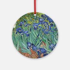 Vincent van Gogh - Irises Round Ornament