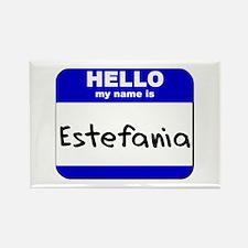 hello my name is estefania Rectangle Magnet