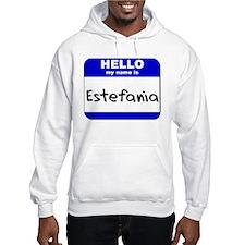 hello my name is estefania Hoodie Sweatshirt