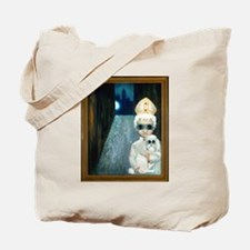 Big-eyed Nun and Pope Tote Bag