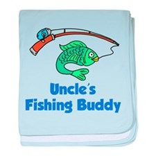 Uncles Fishing Buddy baby blanket