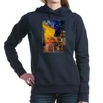 CAFE-BorderT.png Hooded Sweatshirt