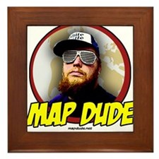 Map Dude Logo Framed Tile
