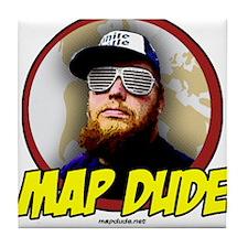 Map Dude Logo Tile Coaster