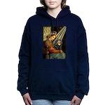 TILE-MadonnaCav-Blk-Tan.png Hooded Sweatshirt