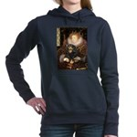 PILLOWQueen-Cav-Blk-Tan.png Hooded Sweatshirt