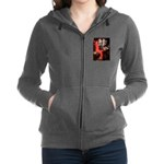LADY-CockerBlk-C-red.png Zip Hoodie