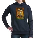 2-MP-KISS-Dachs1and2-brown.png Hooded Sweatshirt