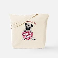 Happy Valentine's Day Fawn Pug Tote Bag