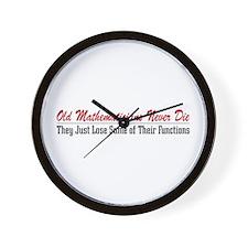 Old Mathematicians Wall Clock