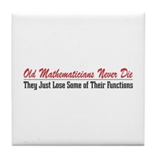 Old Mathematicians Tile Coaster