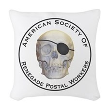 Renegade Postal Workers Woven Throw Pillow