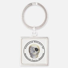Renegade Postal Workers Square Keychain