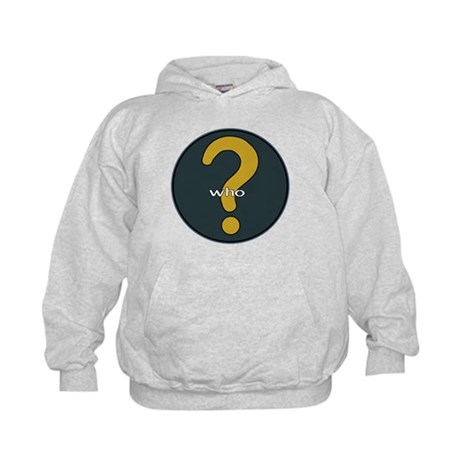 The question is WHO? Kids Hoodie