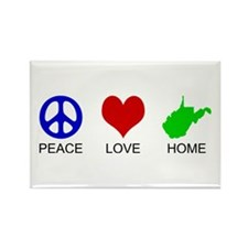 Peace Love Home Rectangle Magnet