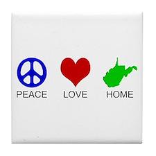 Peace Love Home Tile Coaster