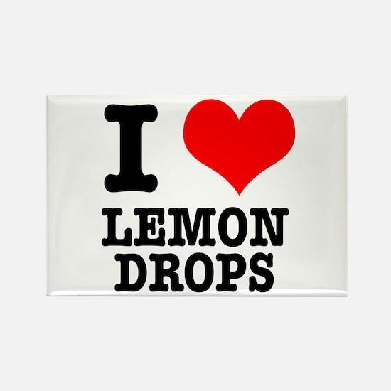 I Heart (Love) Lemon Drops Rectangle Magnet