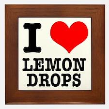 I Heart (Love) Lemon Drops Framed Tile
