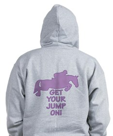 Horse Jumping Get Your Jump On Zip Hoodie