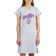 Horse Jumping Get Your Jump On Women's Nightshirt