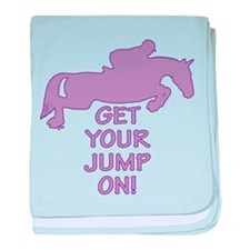 Horse Jumping Get Your Jump On baby blanket