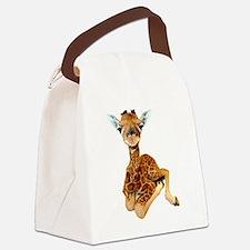 baby giraffe Canvas Lunch Bag