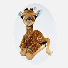 baby giraffe Oval Ornament