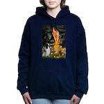MidEve-EnglishSpringer7 Women's Hooded Sweatshirt
