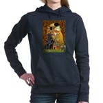 Flat Coated Retriever 1 - The Kiss.png Hooded Swea