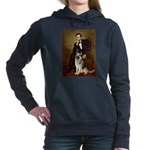 CLOCK-LINCOLN-GShep9.png Hooded Sweatshirt