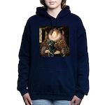 TILE-Queen-BlkLab1.png Hooded Sweatshirt