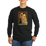 5.5x7.5-Kiss-BlkLab4.png Long Sleeve Dark T-Shirt