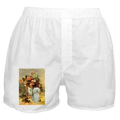 Poodle (13W) - Vase of Flowers.png Boxer Shorts