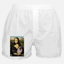 card-Mona-PugPair.png Boxer Shorts