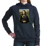 MONA-Pug-Blk-new-C-red.png Hooded Sweatshirt