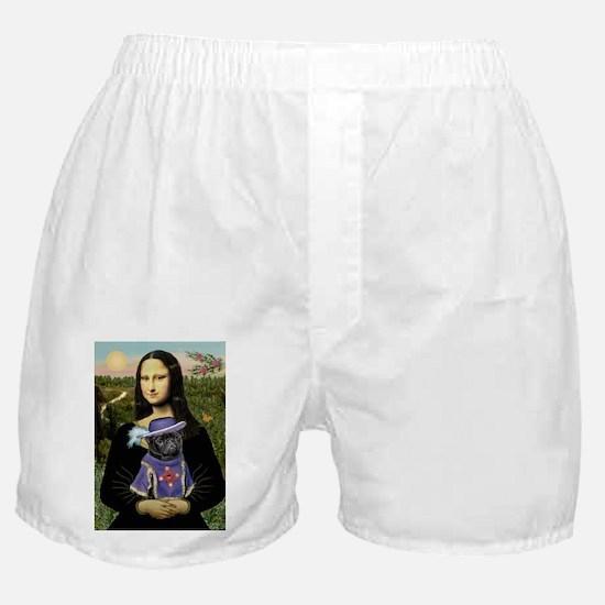 MONA-Black SIR PUG.png Boxer Shorts
