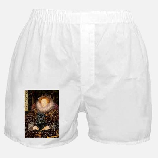 QUEEN-Pug-Blk14.png Boxer Shorts