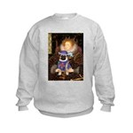 Queen-Sir Pug (17) Kids Sweatshirt