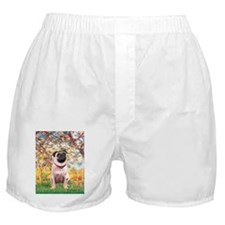 SPRING-Pug1.png Boxer Shorts