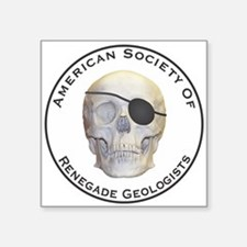"""Renegade Geologists Square Sticker 3"""" x 3"""""""