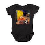 Rat Terrier - Terrace Cafe.png Baby Bodysuit
