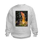 5x7-MidEve-Rottie3.PNG Kids Sweatshirt