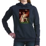 5.5x7.5-Angel1-Saluki2.png Hooded Sweatshirt