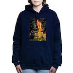Schipperke 2 - MidEve.png Hooded Sweatshirt