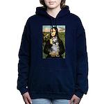 Schnauzer 1cr - Mona Lisa.png Hooded Sweatshirt