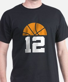 Basketball Number 12 Player Gift T-Shirt