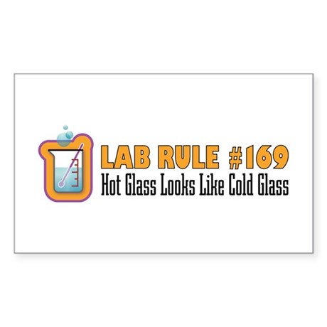 Hot and Cold Glass Rectangle Sticker