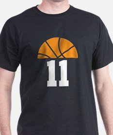 Basketball Number 11 Player Gift T-Shirt